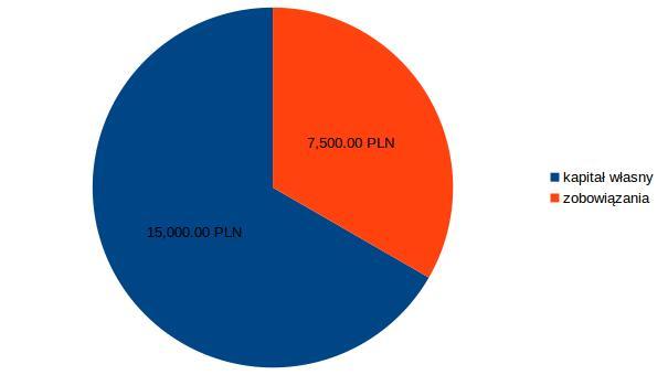 wykres kołowy: podział kapitałów w spółce